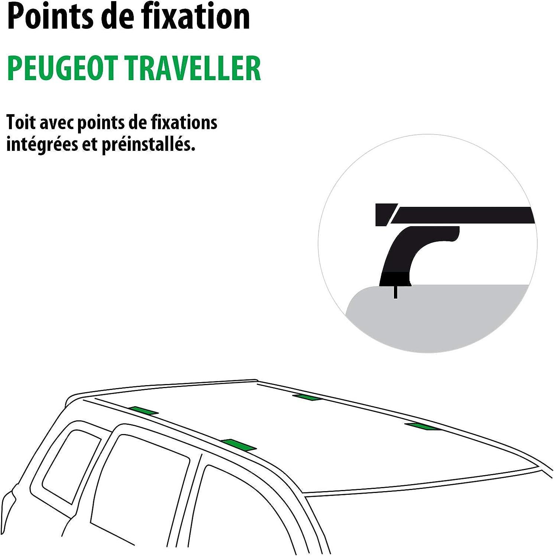 Rameder Pack Barres de Toit SquareBar pour Peugeot Traveller 136891-36453-4-FR