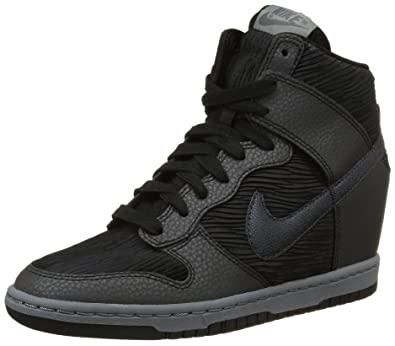 Nike Women s Dunk Sky Hi Black Grey Metalic 528899-015 (Size  33992e1531da