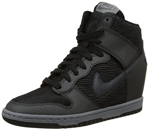 Nike Women s Dunk Sky Hi Black Grey Metalic 528899-015 (Size  73f814fdd6be