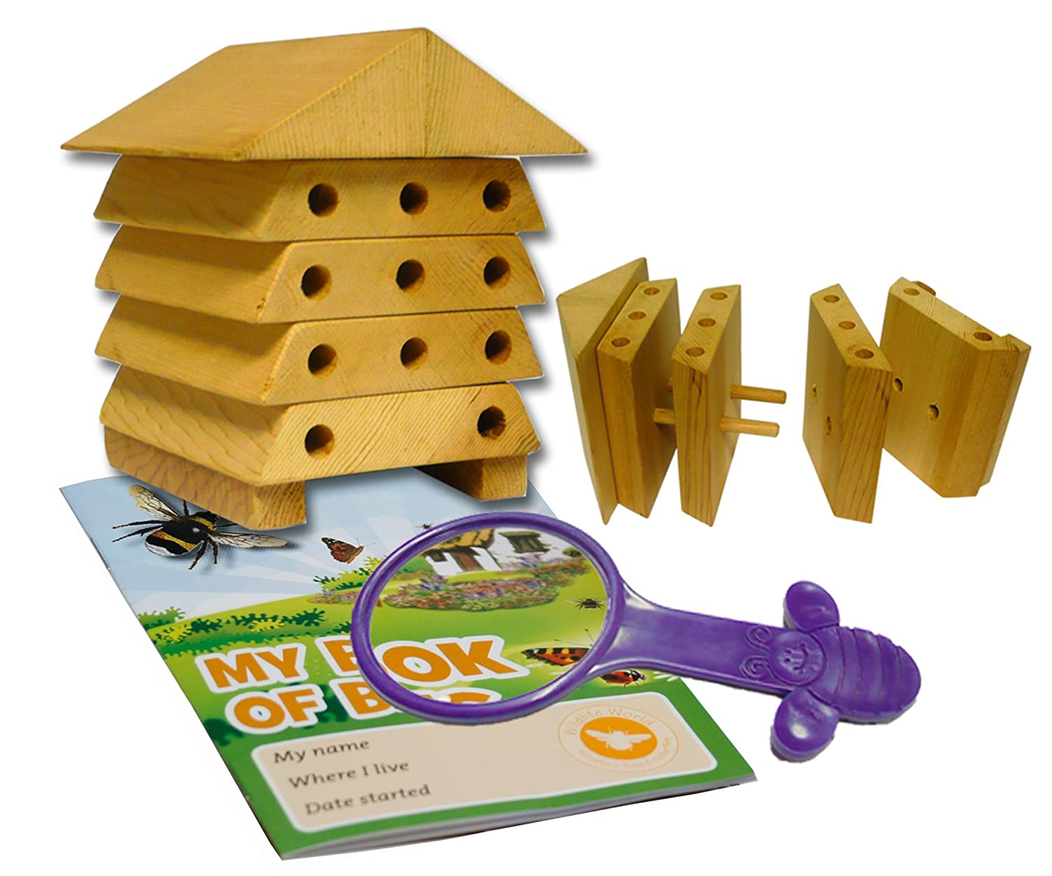 Wildlife World Mini Bugs Solitary Bee Hive MSBH1 Insect Habitat Beneficial Insect Bug House