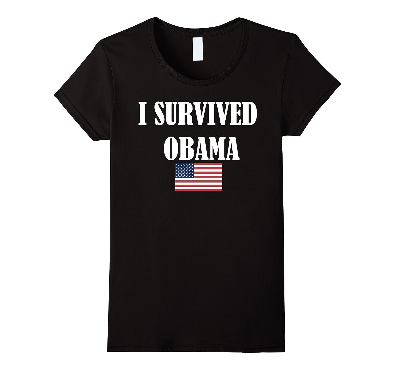 I Survived Obama American Flag Political Shirt-Teevkd
