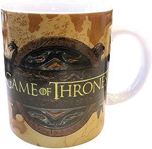 Game of Thrones - Taza de cerámica - Con logotipo de Opening - You Win or You Die - Caja de regalo