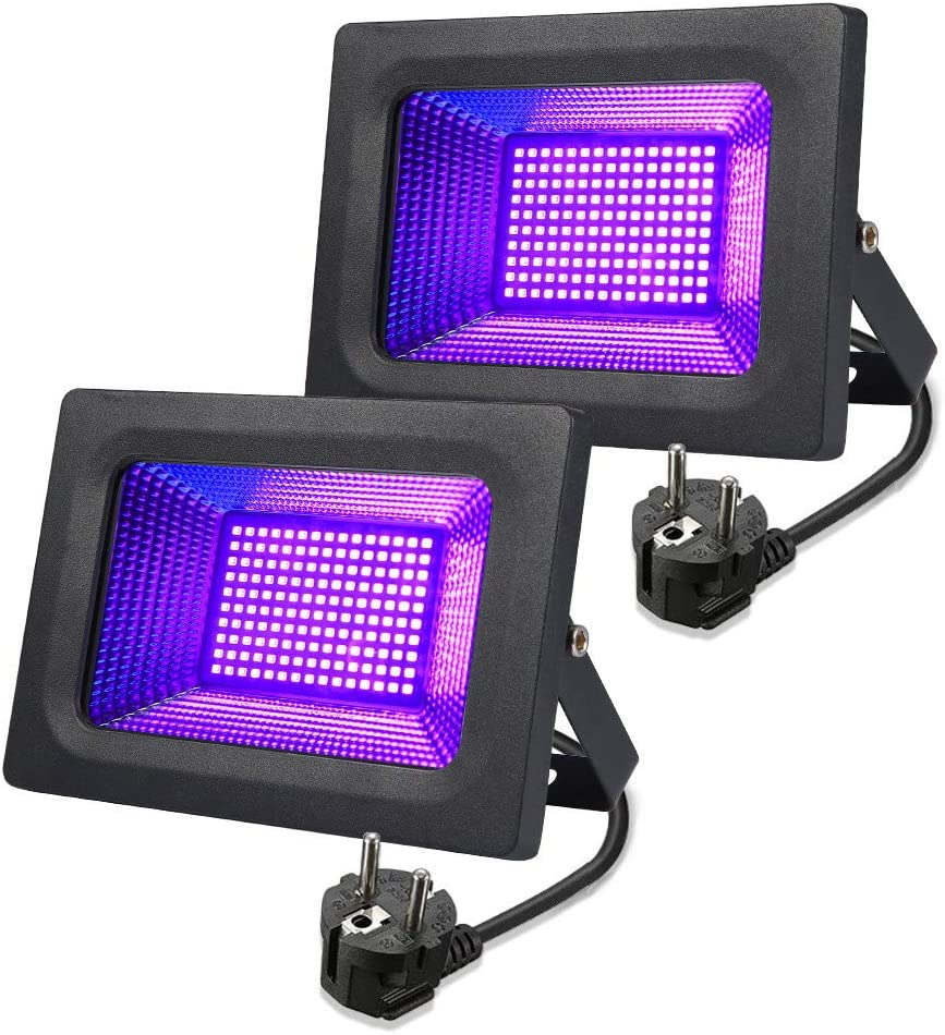IBIZA PAR-MINI-UV SCHWARZLICHT LED PAR SCHEINWERFER 12x2 WATT DEKO BÜHNE LICHT