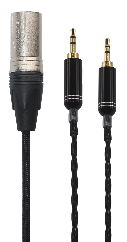 KKケーブルn-2 m交換用オーディオアップグレードケーブルfor HiFiMan he400s/he-400i/he560 /he-350 /he1000ヘッドフォン、4 - Pin XLRオス、n-2 m B07CXLKH54  1.5M(4.9FT)