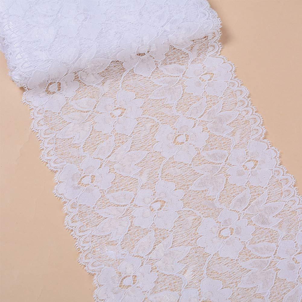 Free Size - Rose Tissu Dentelle Spandex Chinlon Bordure Doux Loisirs Cr/éatifs Rideau V/êtement Floral Exquis Couture DIY Broderie D/écoration Patchwork Mat/ériau /Élastique Noir