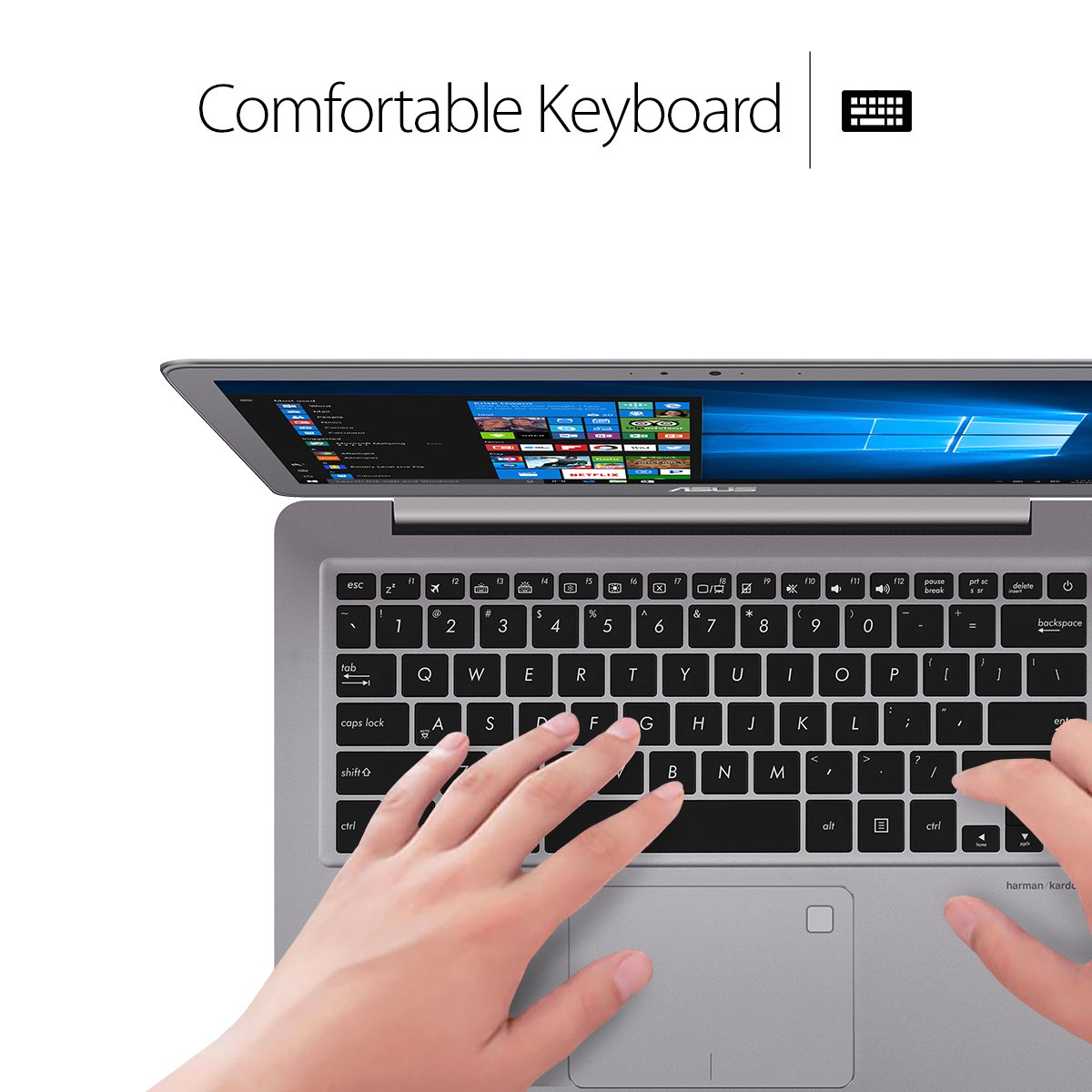 ASUS ZenBook UX330UA-AH54 13.3-inch LCD Ultra-Slim Laptop (Core i5 Processor, 8GB DDR3, 256GB SSD, Windows 10) w/ Harman Kardon Audio, Backlit keyboard, Fingerprint Reader by Asus (Image #4)