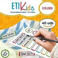 ETIKids 40 Étiquettes de vêtements personnalisables pour la garderie et l'école. (color)
