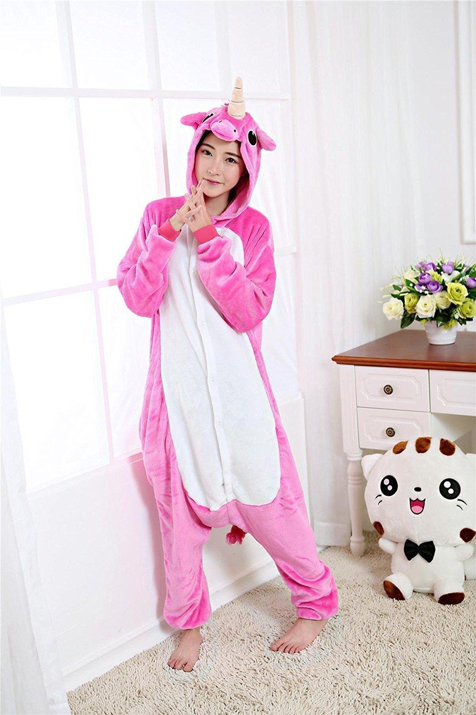 Misslight Unicornio Pijamas Animal Ropa de dormir Cosplay Disfraces Kigurumi Pijamas para Adulto Niños Juguetes y Juegos (L, Rosa): Amazon.es: Juguetes y ...