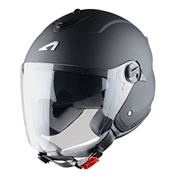 Astone Helmets Mini Jet, Casco Jet, color Negro Mate, talla S