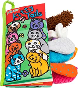 Zocita My First Animals Tails Soft Cloth Book, Baby Crinkle Activity Fabric Books for Toddlers and Kids(Kitty)
