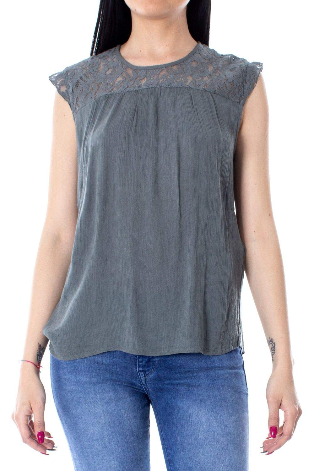 Only Women's 15157657GREY Grey Viscose Tank Top