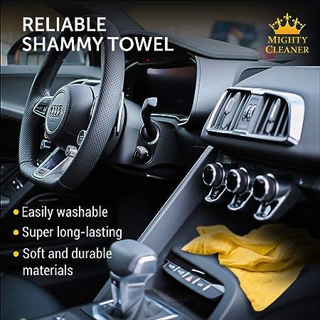 Hochwertiges Chamois Tuch Für Auto 2er Packung Mini Auto Fensterleder 43 2 X 33 Cm Zwei Röhren Ein Extra Fensterleder Handtuch Auto