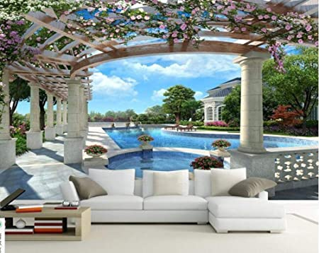 WYJ0820 D sala de estar TV fondo pared sofá pared europeo ...