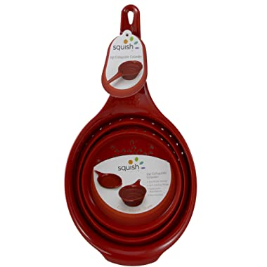 Squish 2 Quart Red Collapsible Colander- Red