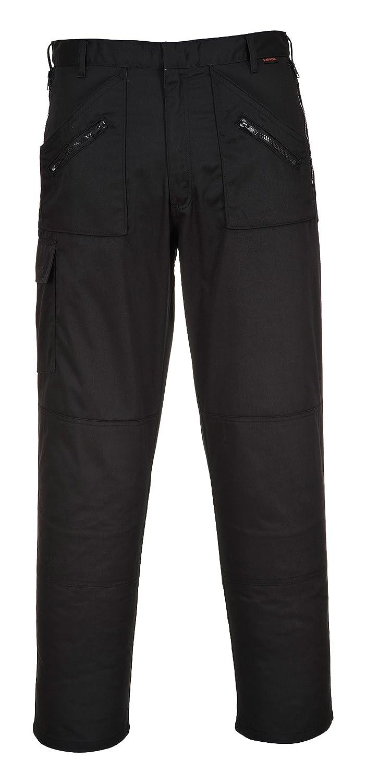 Portwest S887 Work Action Color Negro Pantalones con Rodilleras