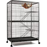 140cm 4 Level Bird Ferret Parrot Cage Aviary Cat Budgie Hamster House W Castor