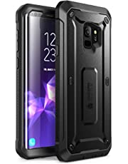 SupCase Samsung Galaxy S9 Case, Full-body Rugged Holster Case with Built-in Screen Protector for Galaxy S9 (2018 Release), Unicorn Beetle PRO Series - Retail Package (Black)