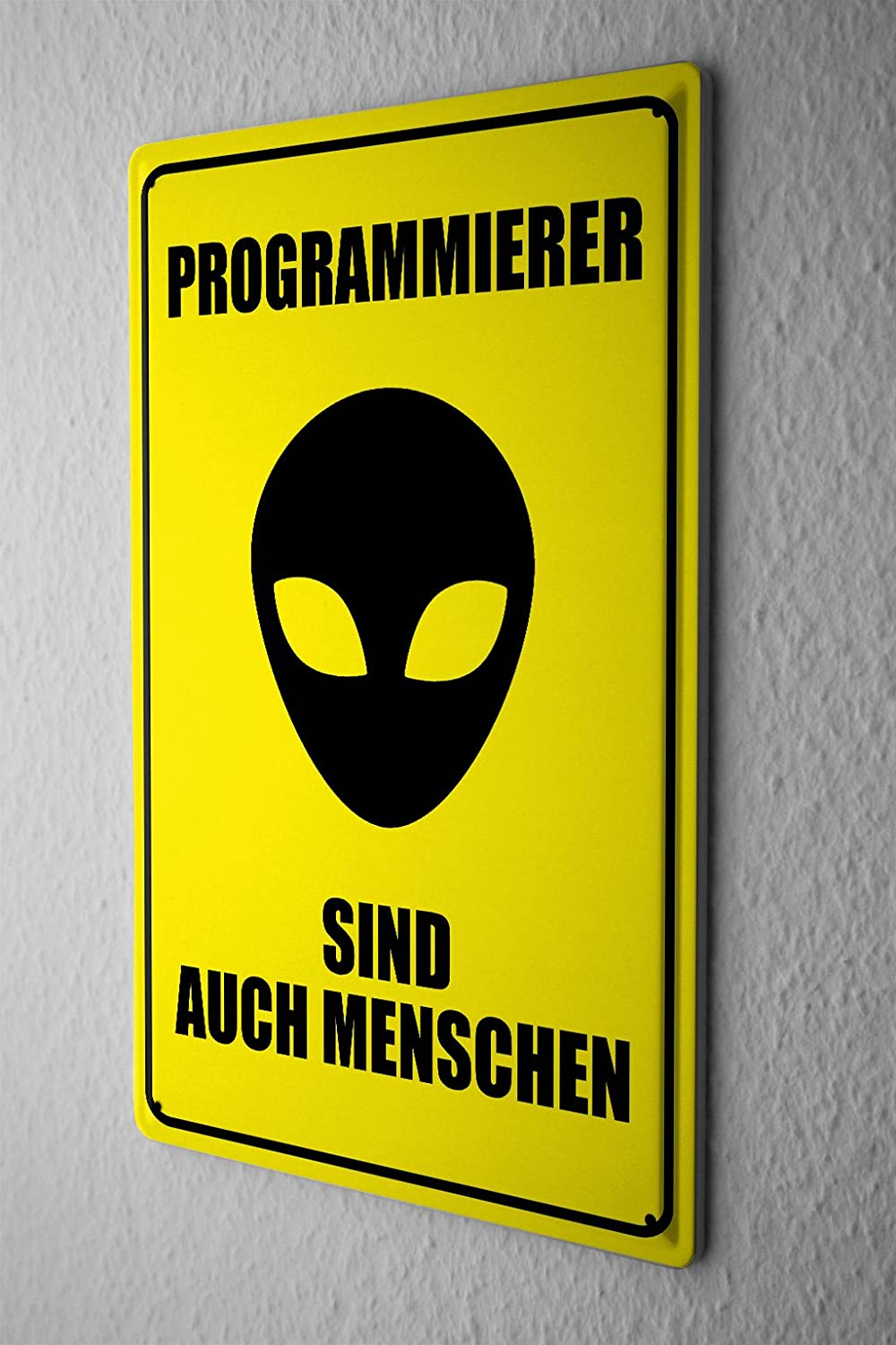 Cartel de chapa Placa metal tin sign programadores señal de ...