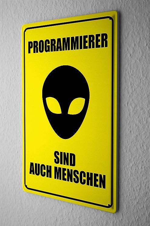 Cartel de chapa Placa metal tin sign programadores señal de ...