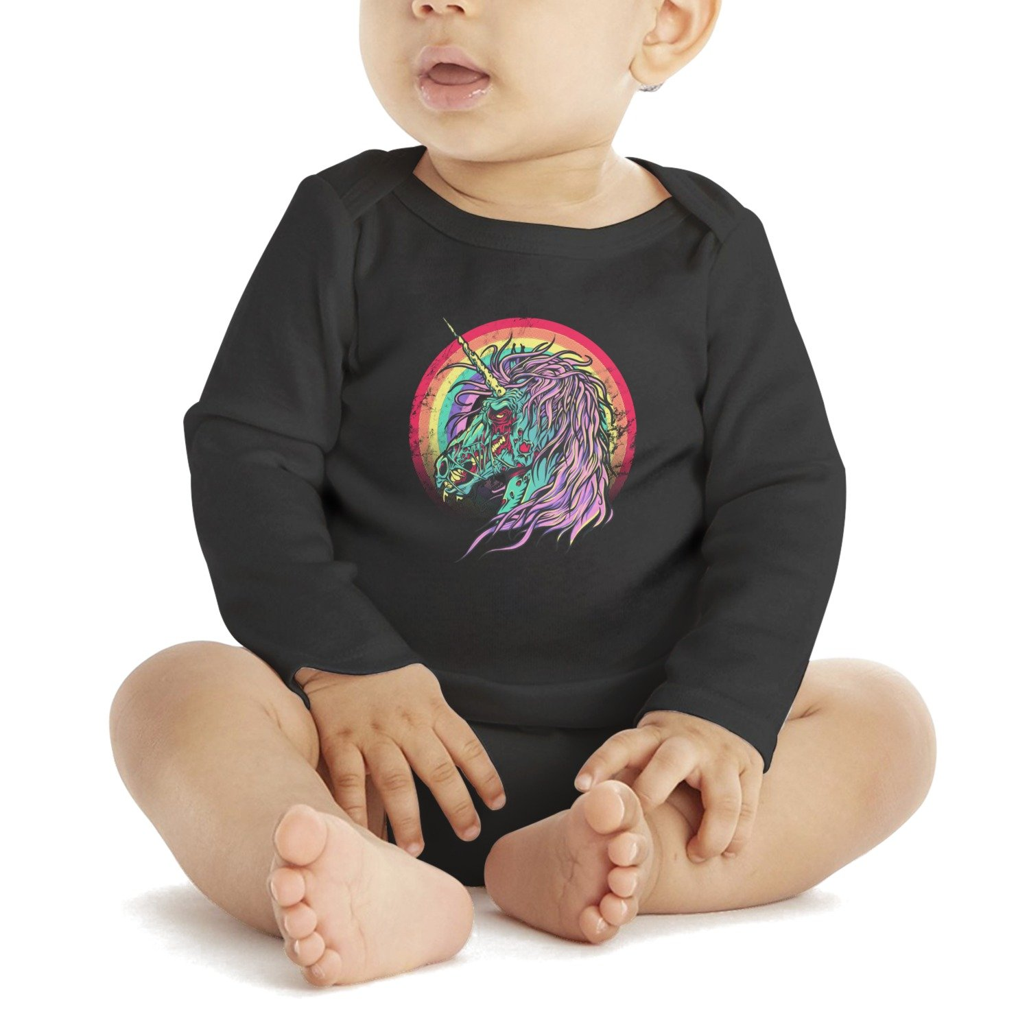 4868b829444 Amazon.com  SHUOCDAH Zombie Unicorn Baby Girls Cool Baby Bodysuit Onesies   Clothing
