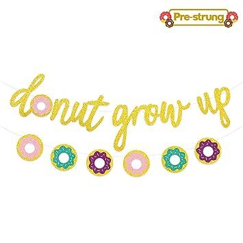 Amazon.com: Guirnalda con purpurina de donut para decoración ...