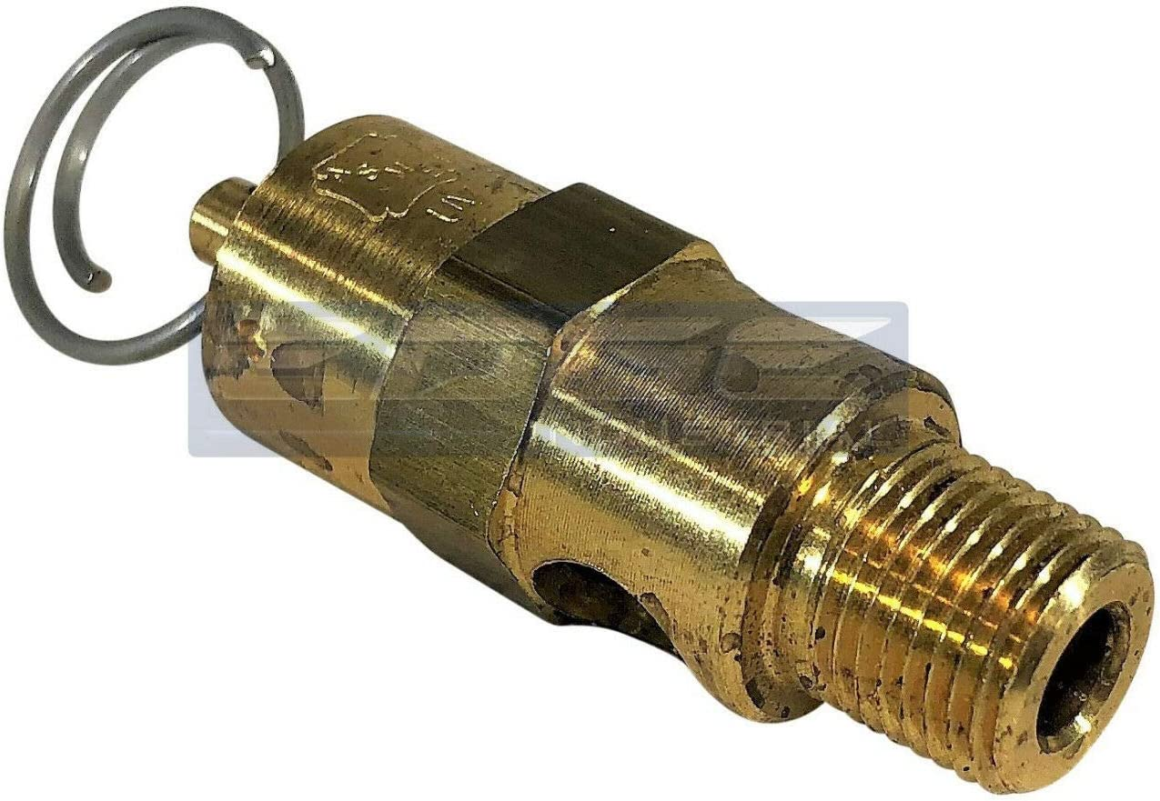 1//8 ASME Brass Safety relief Valve 30 PSI Compressed air pop off valve American made