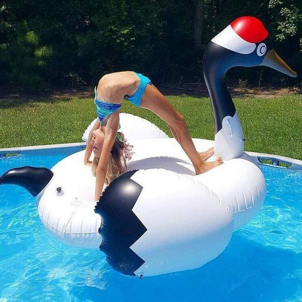 WJSW Juguetes inflables Summer Swan Flamingo Grulla coronada de ...