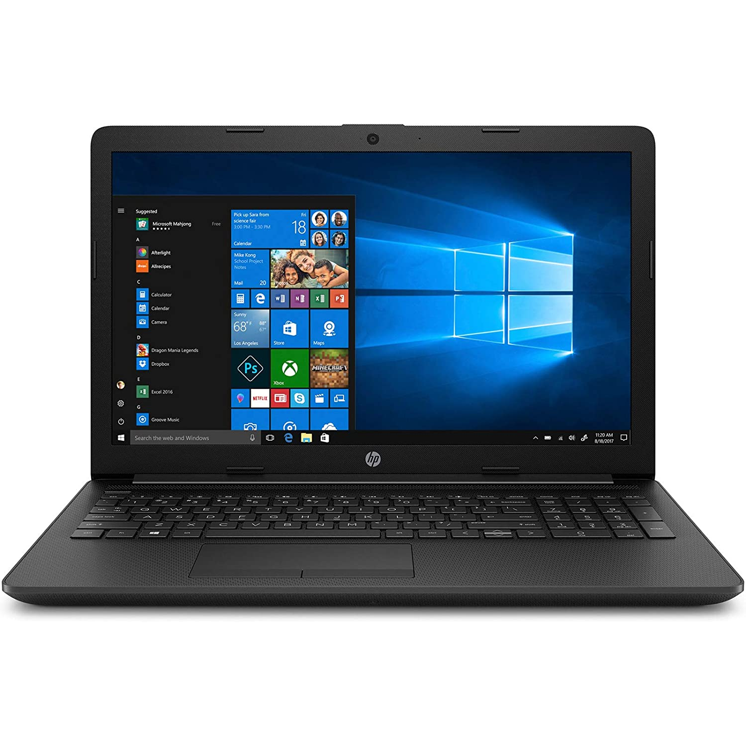 HP 15 AMD Athlon 15.6-inch HD Laptop (Athlon 300U/4GB/1TB HDD/Windows 10/Radeon Vega 3 Graphics/MS Office Home & Student/2.04 kg/Jet Black), 15 db1066AU