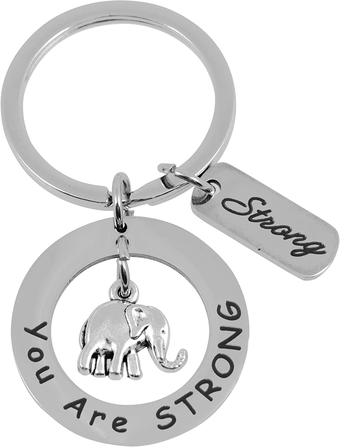 OutFun 2-Pack Elephant Gifts for Women - You are Strong - Elephant Jewelry Gift for Women - Encouragement Gifts for Women