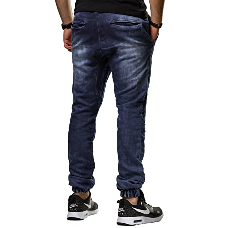 Tazzio Jeans Herren Crotch Hose Drop Slim Fit Cuffed Jogger