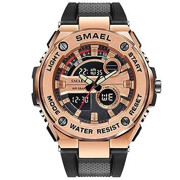 Blisfille Reloj para Hombre Relojes y Pulseras Inteligentes Relojes Digitales Fila Reloj Hombre y Mujer Reloj Hombre Correa Cuero: Amazon.es: Deportes y ...
