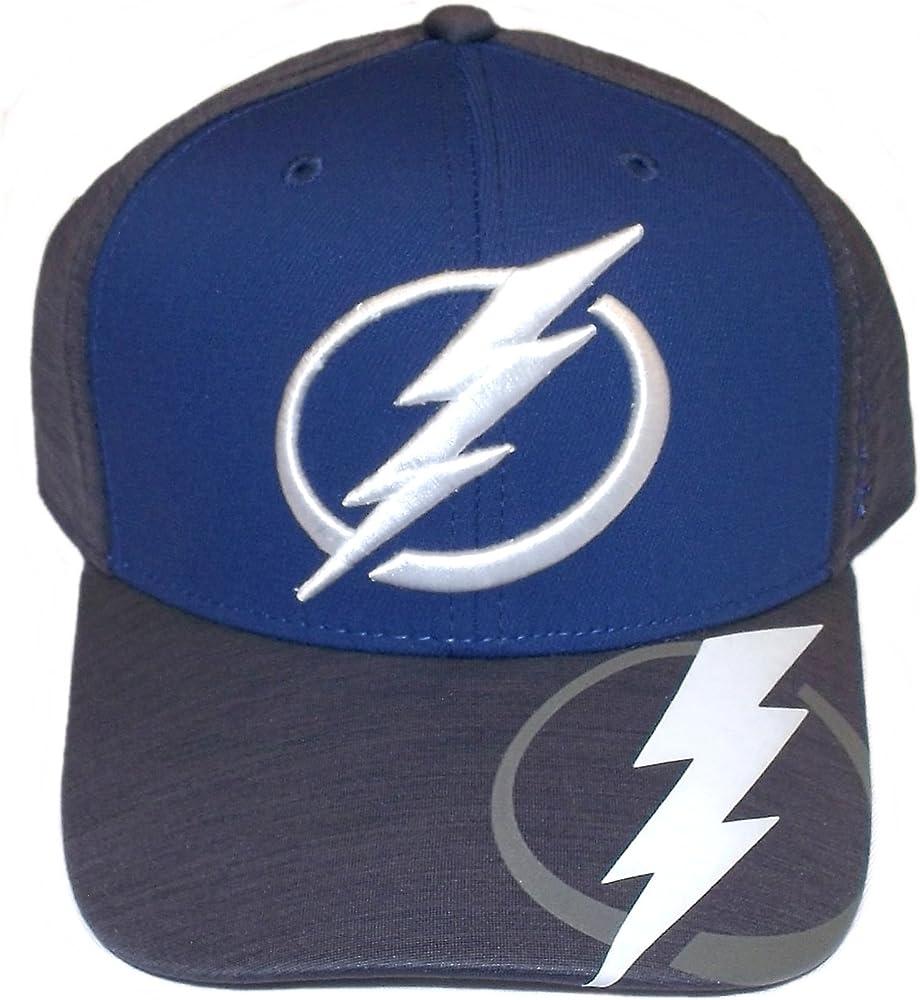 3d2e2899 Amazon.com : Tampa Bay Lightning Playoff Structured Flex Reebok Hat ...