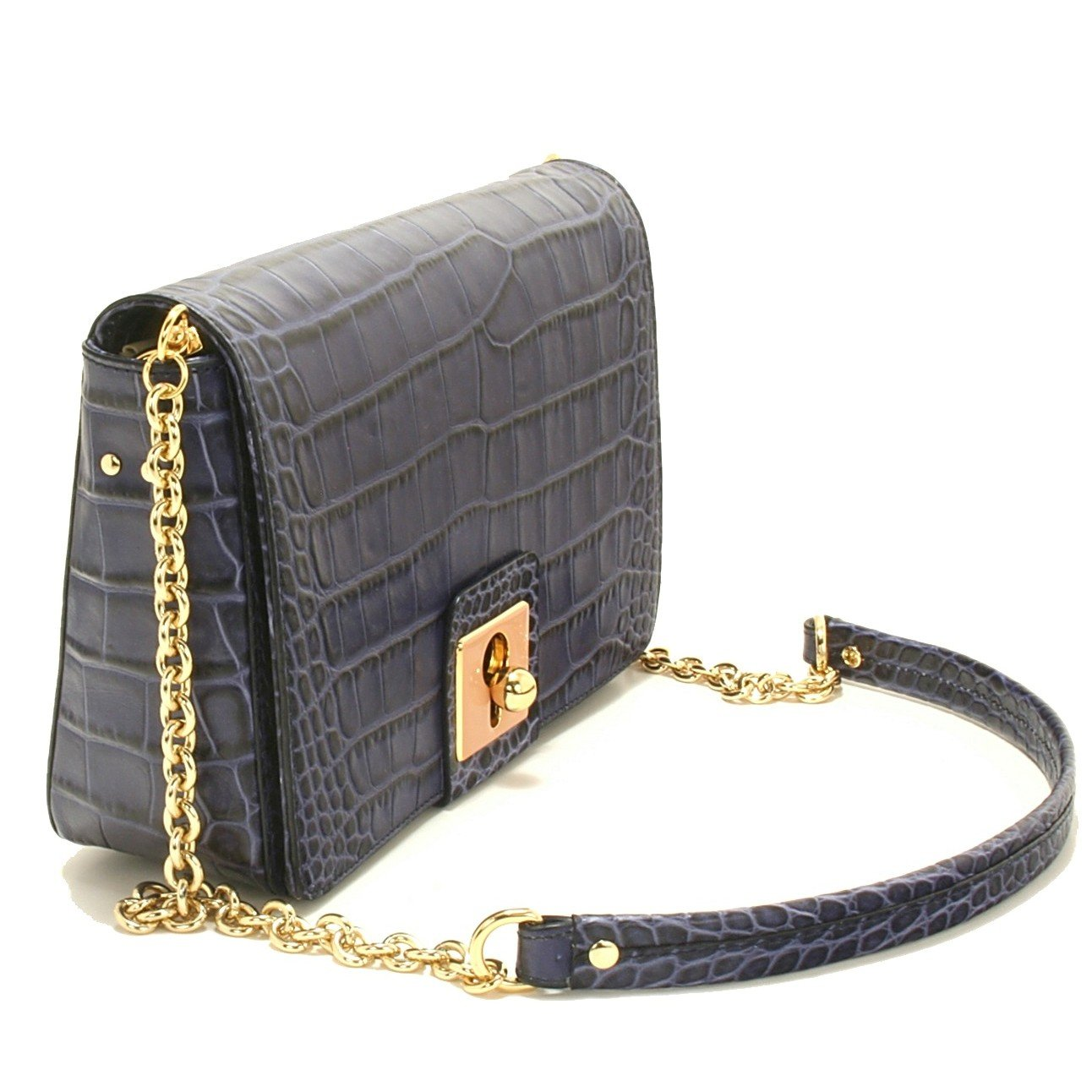 2b8662f9f2 Orla Kiely Croc Embosed Robin Bag, Navy: Handbags: Amazon.com