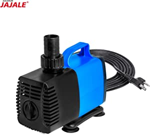 JAJALE JD Submersible Water Pump Ultra Quiet for Pond,Aquarium,Fish Tank,Fountain,Hydroponics