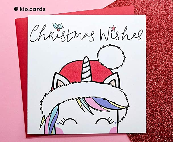 Cute Christmas Cards.Cute Unicorn Christmas Card Unicorn Lover Gifts