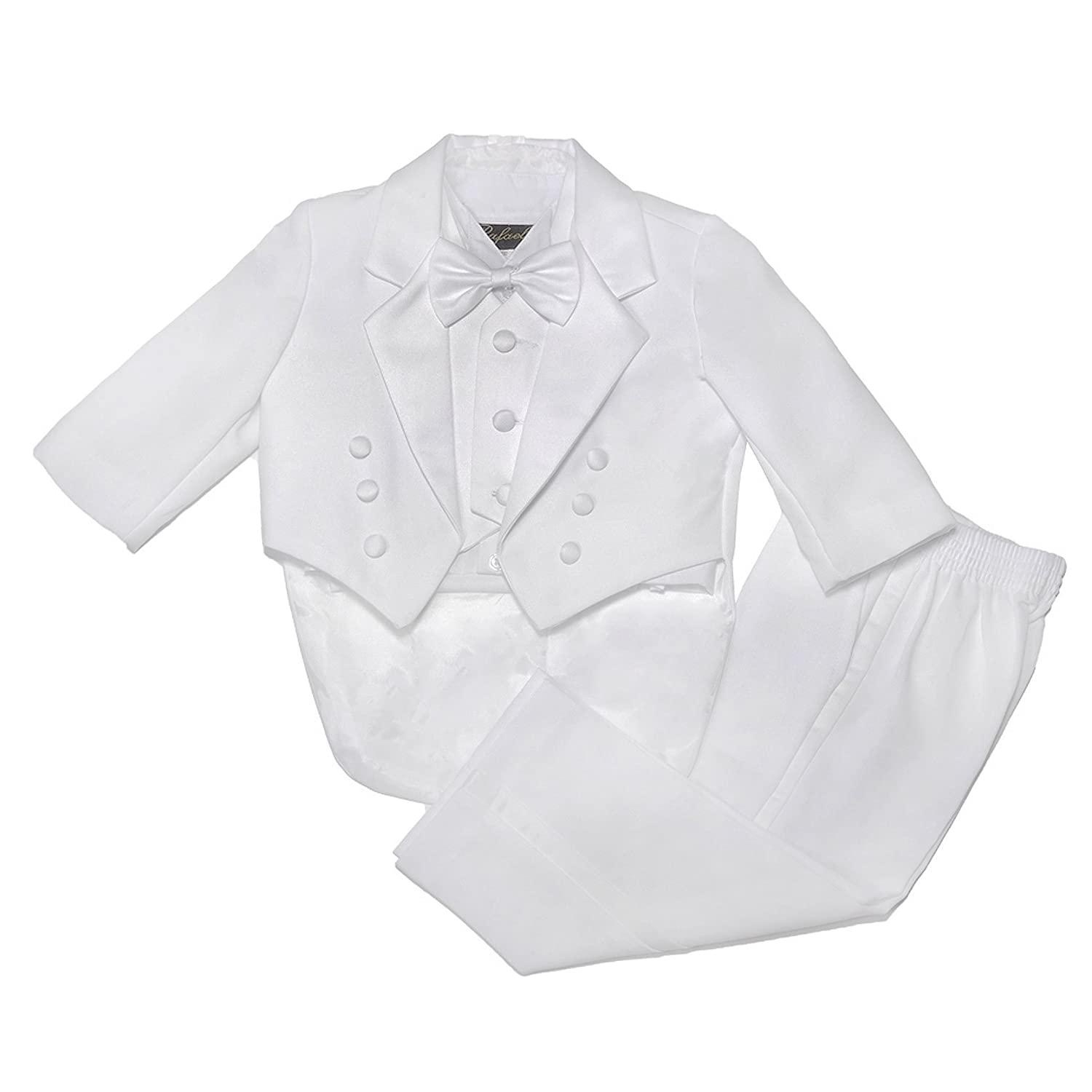 NancyAugust Classic Baby Boy to Teen Formal Tuxedo with Tail in White GUPWHTTUX10B