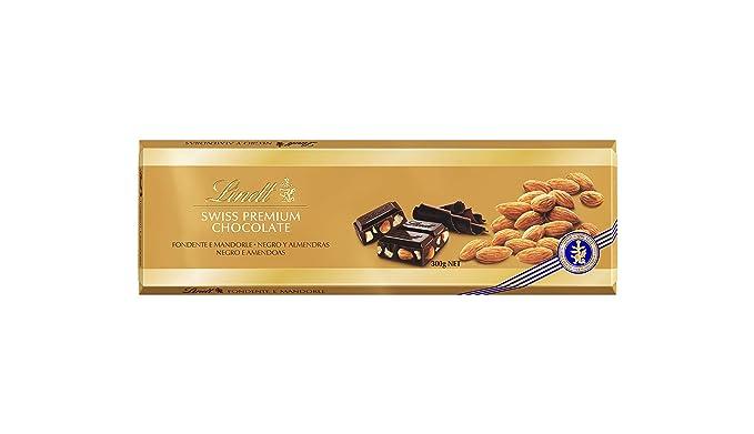 Lindt Gama Oro Tableta de Chocolate Negro con Almendras Enteras - 5 Paquetes de 300 gr