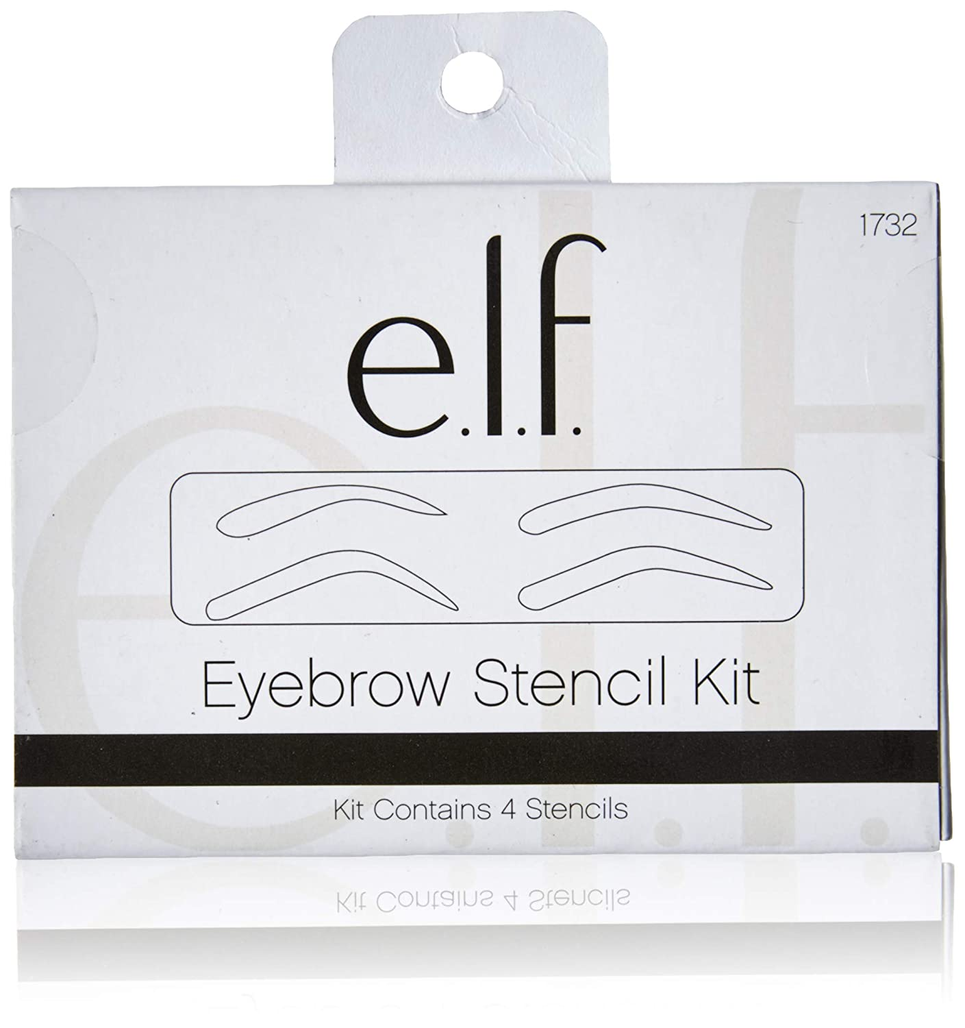 picture relating to Eyebrow Shapes Stencils Printable named elf Cosmetics Eyebrow Stencil Package for Effectively Fashioned Brows, Incorporates 4 Reusable Stencils