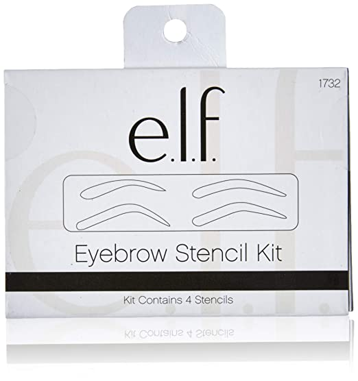 picture relating to Eyebrow Template Printable titled ELF Cosmetics Eyebrow Stencil Package