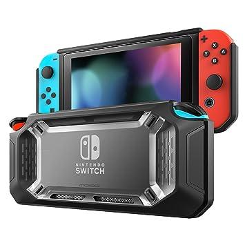 MoKo Funda para Nintendo Switch, Resistente Delgado Protector Duro Carcasa del Switch, Amortiguación y Antiarañazos para Consola Nintendo Switch y Joy ...