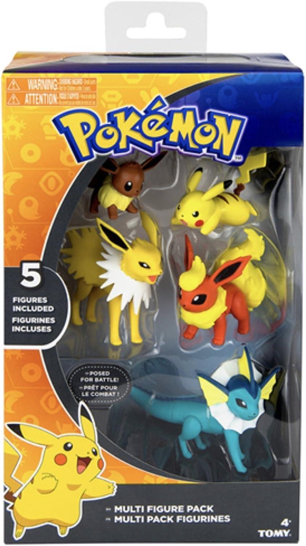Pokemon Battle Pose Figures 5 Pack - Vaporeon, Jolteon, Flareon, Eevee & Pikachu by Fas&Faz: Amazon.es: Juguetes y juegos