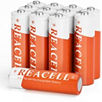 REACELL 12X Accu AA 1200 mAh Oplaadbare Batterijen 1,2 V AA NI-MH Rechargeable Batterijen Lage Zelfontlading Solar AA…
