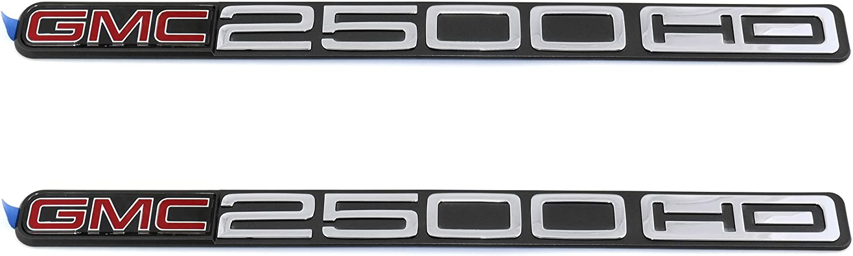 OEM 15114056 GMC 2500 HD Door Nameplate Emblem Pair Set for GMC Pickup Truck