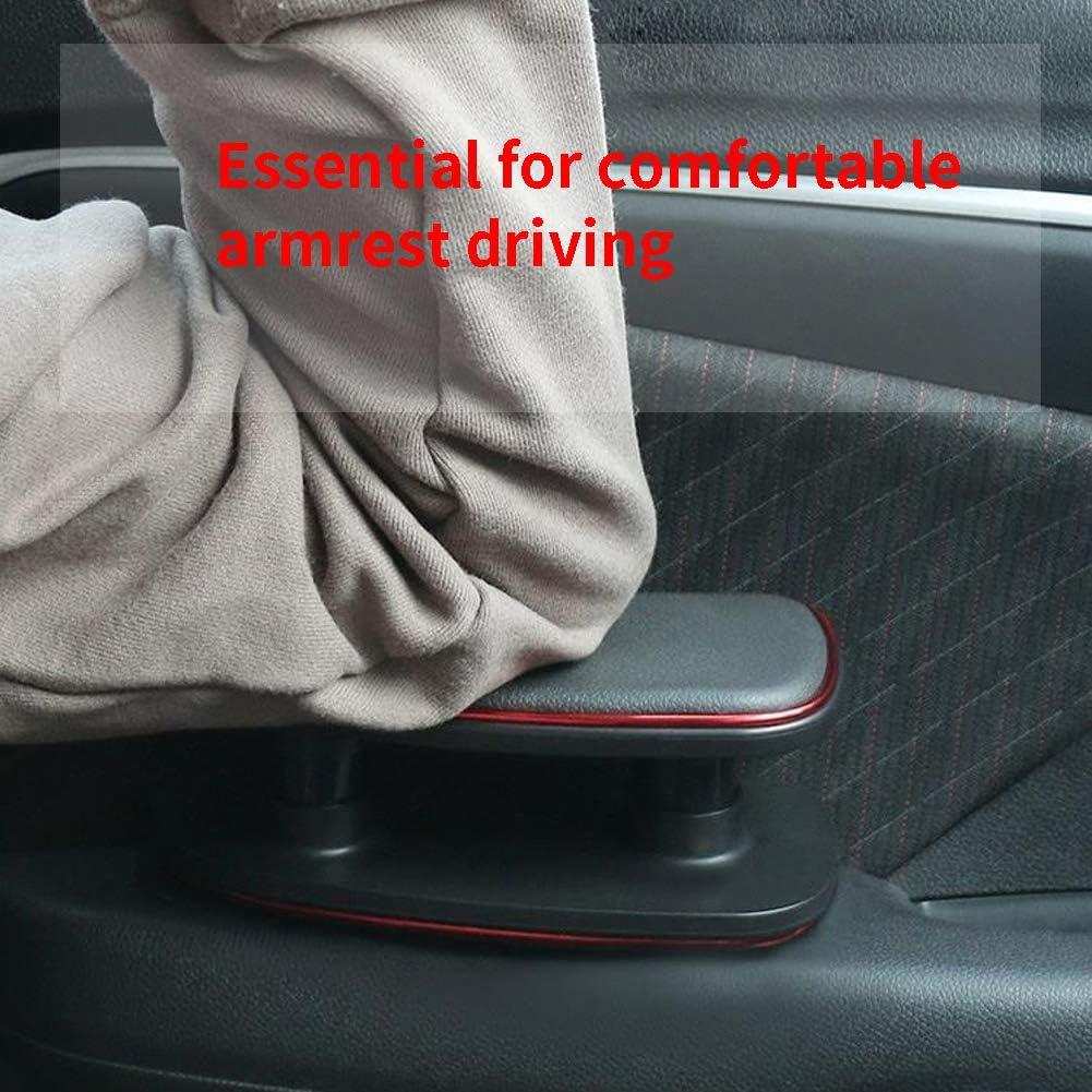 Universal Auto Armlehne Links Ellenbogenst/ütze ergonomisch verstellbare H/öhe Linke Seite Auflage Polster f/ür Fahrert/ür Free Size Schwarz