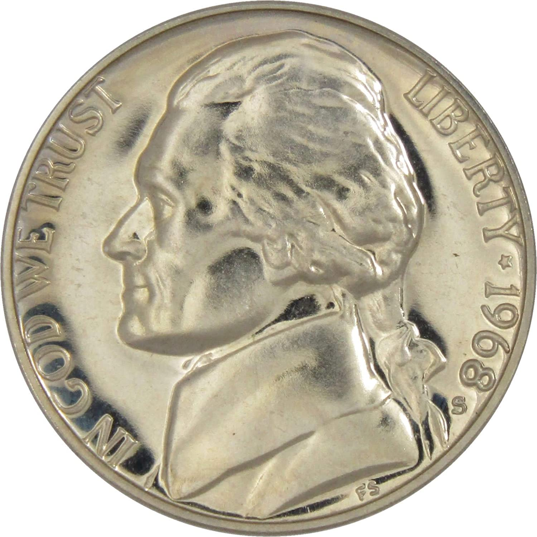 1968 Gem Proof Jefferson Nickel Roll 40 US Coins