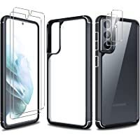 TAURI [3 w 1] Etui ochronne zaprojektowane dla Samsung Galaxy S21 5G 6,2 cala z 2 sztukami hartowane szkło ochraniacz…