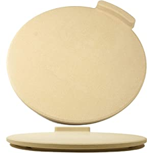 "The Ultimate Pizza Stone for Oven & Grill. 16"" Round Baking Stone with Exclusive ThermaShock Protection & Core Convection Technology for the Perfect Crispy Crust on Pizzas & Bread. No-Spill Stopper"