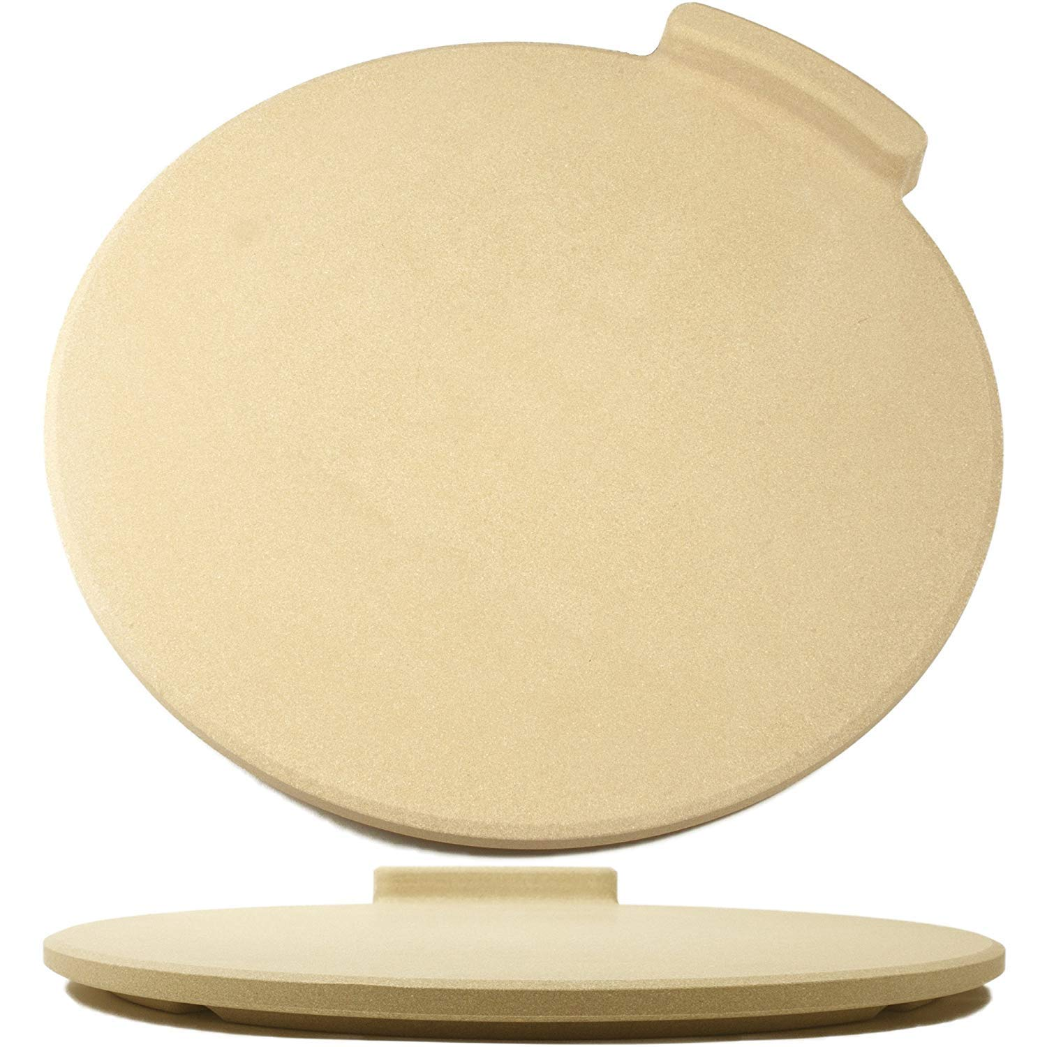 The Ultimate Pizza Stone for Oven & Grill. 16'' Round Baking Stone with Exclusive ThermaShock Protection & Core Convection Technology for the Perfect Crispy Crust on Pizzas & Bread. No-Spill Stopper