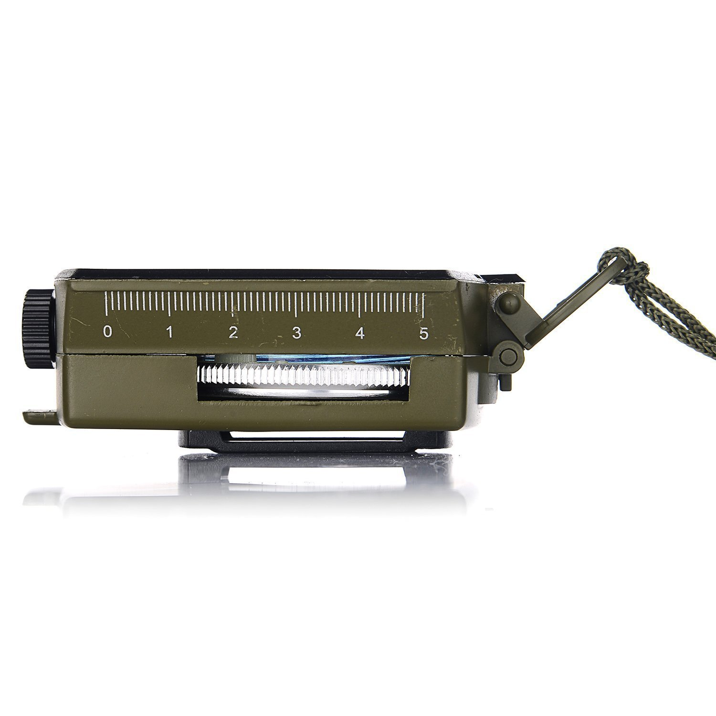 GWHOLE Military Lensatic Sighting Compass Waterproof for Outdoor Activities
