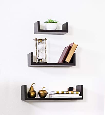 Amazon Com Adorn Home Essentials Floating Shelves Set Of 3 With